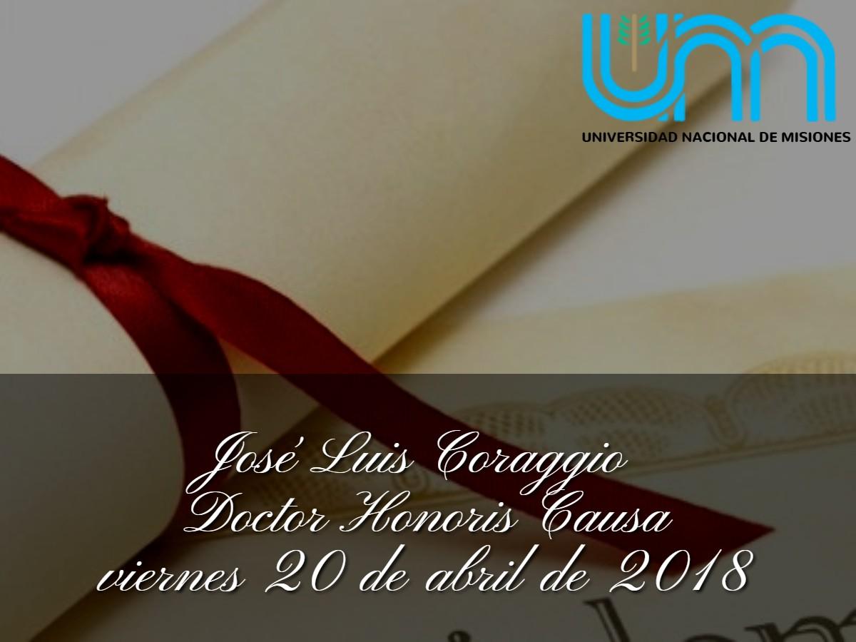 Honoris Causa José Luis Coraggio