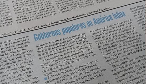 Gobiernos populares en América latina | López Accotto, Martínez, Mangas y Paparás en Página/12