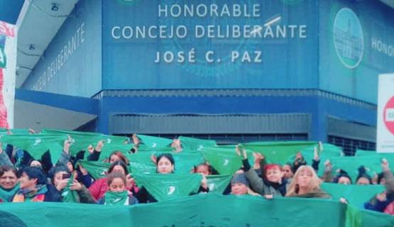 El Concejo Deliberante de José C Paz aprobó el apoyo al proyecto de legalización del aborto