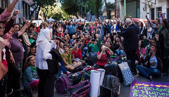 9º Ciclo de Experiencias de la Diplomatura en Géneros, con integrantes del Foro feminista contra el G20