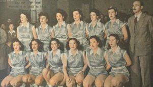 La selección de básquet femenino campeona del Sudamericano de 1948.