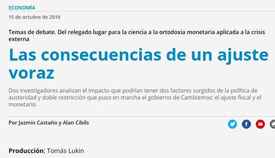Alan Cibils en Página 12 | Era la restricción externa