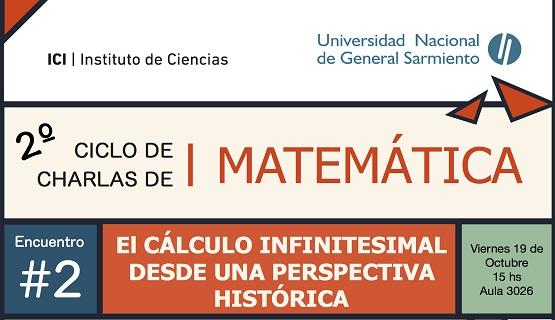 El cálculo infinitesimal en el ciclo de charlas de matemática