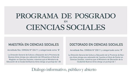 Maestría y Doctorado en Ciencias Sociales: Reuniones informativas