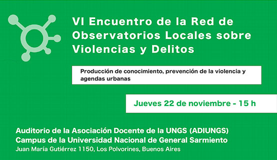 Encuentro de la Red de Observatorios locales sobre violencias y delitos