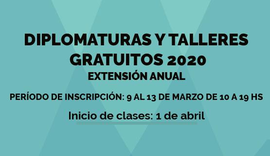 Inscripciones a las diplomaturas y talleres gratuitos 2020