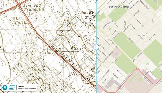 Visor de mapas históricos. Un recorrido por las transformaciones de la región metropolitana de Buenos Aires