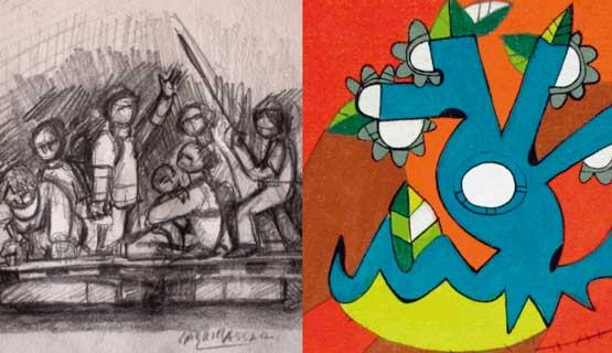 Muestras: Boceto de Gabriel Assad y Nosotres de Paola Cano
