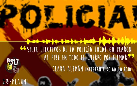 En San Miguel un menor quedó internado tras los golpes de siete policías