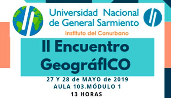 Segundo Encuentro GeográfICO