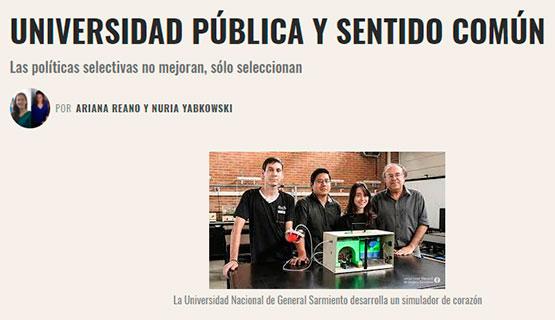 Universidad pública, sentido común | Reano y Yabkowsky en El cohete a la Luna