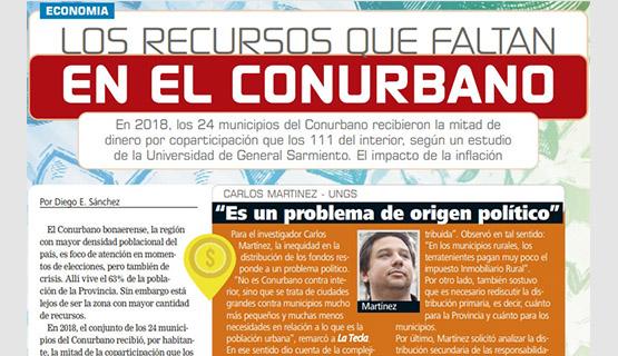 Los recursos que faltan en el conurbano | Carlos Martínez en La Tecla