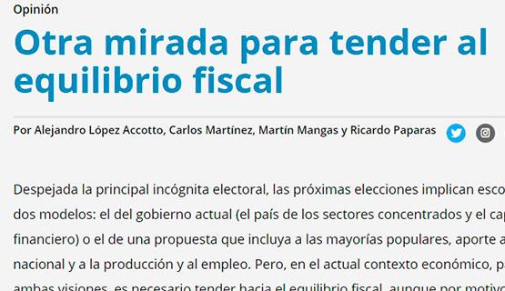 Alejando López Accotto, Carlos Martínez, Martín Mangas y Ricardo Paparas en Página 12