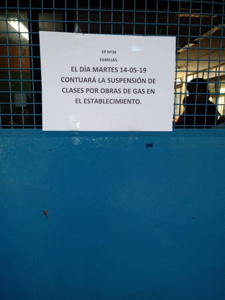 Nueva perdida de gas en una escuela de Moreno