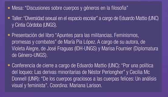 """Jornada de Filosofía: """"Cuerpos, géneros e instituciones"""""""