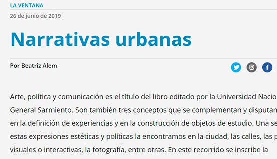 Narrativas urbanas | Beatriz Alem en Página 12