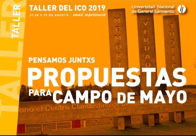 Taller ICO 2019 Campo de Mayo. Para estudiantes de todas las carreras del ICO