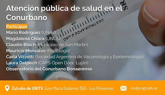 Debates Conurbanos: Atención pública de salud