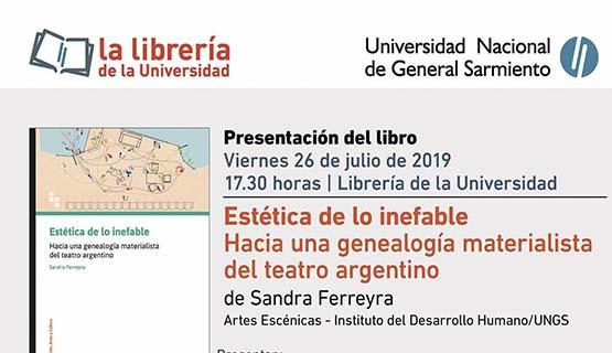 Presentación del libro Estética de lo inefable, de Sandra Ferreyra