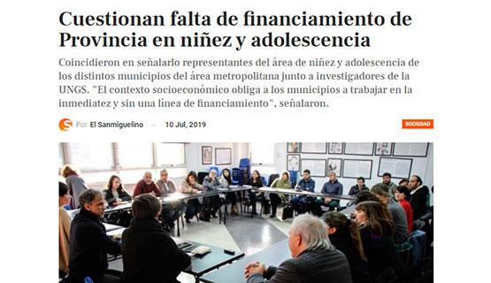 Encuentro entre investigadores y representantes municipales de Niñez y Adolescencia en El Sanmiguelino