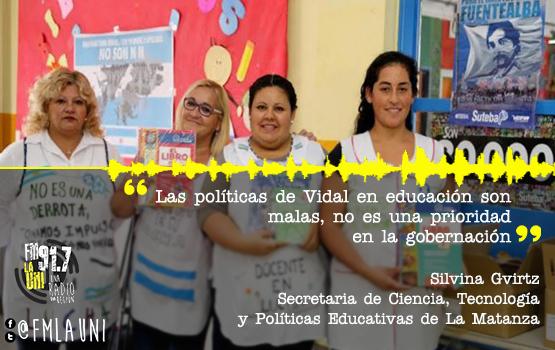 """""""Las políticas en educación son malas"""", afirmó Silvina Gvirtz"""