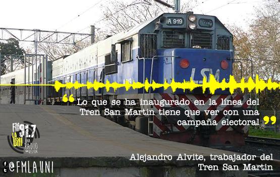 Inaugura el Tren San Martín con mal servicio