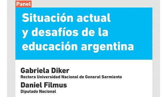 Diker y Filmus hablarán sobre la situación actual y los desafíos de la educación argentina