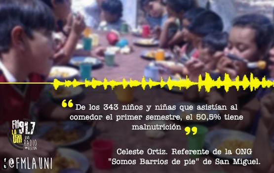 San Miguel: Informe sobre el hambre de les niñes del distrito |