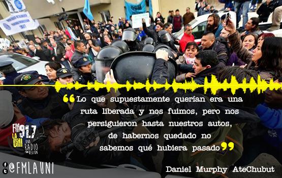 Represión a docentes  en Chubut