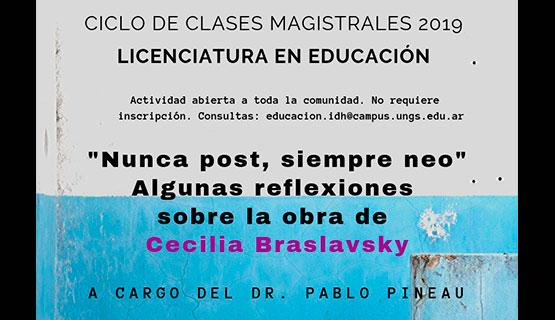 Ciclo de Clases Magistrales: reflexiones sobre la obra de Cecilia Braslavsky