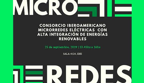 "Capacitación ""Consorcio iberoamericano Microrredes eléctricas con alta integración de energías renovables"""