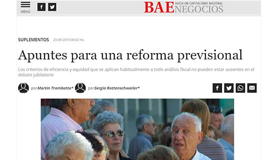 Martín Trombetta y Sergio Rottenschweiler en BAE Negocios | Apuntes para una reforma previsional