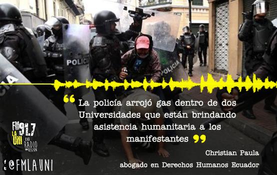 Ecuador, nueve días de protesta y represión