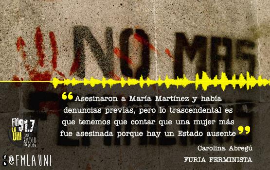 Jose C Paz; Femicidio de Maria Martinez