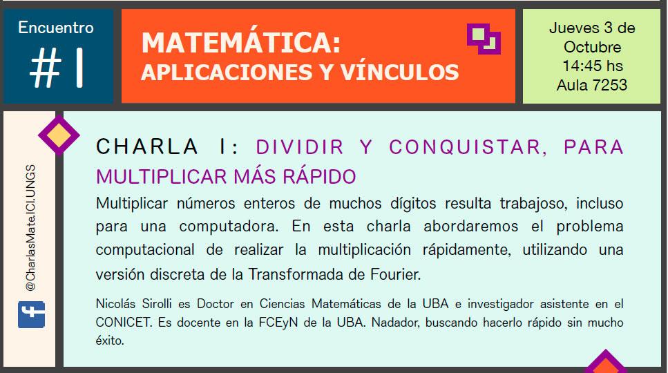 Comienza una nueva edición del ciclo de charlas de matemática