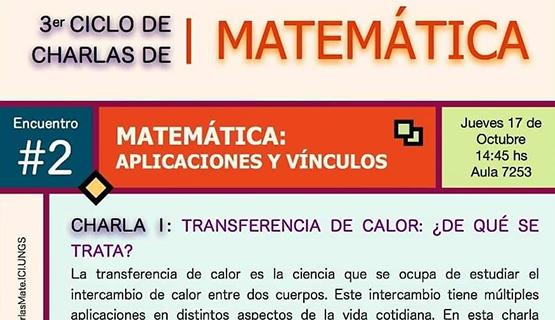 Ciclo de charlas de matemática: