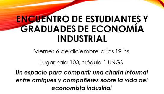 Encuentro de estudiantes y graduades de Economía Industrial