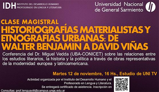 Conferencia sobre historiografías materialistas y etnografías urbanas