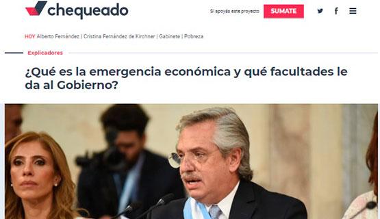 Claudia Danani en Chequeado | ¿Qué es la emergencia económica y qué facultades le da al Gobierno?