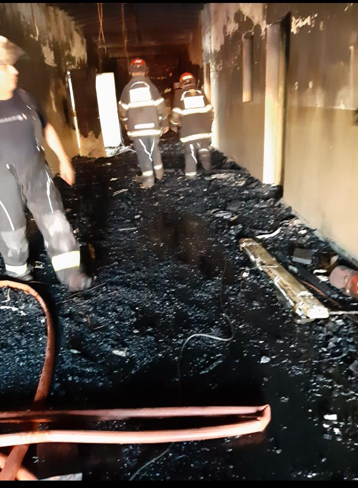 Incendio en la Escuela Nº 31 de Pablo Nogués