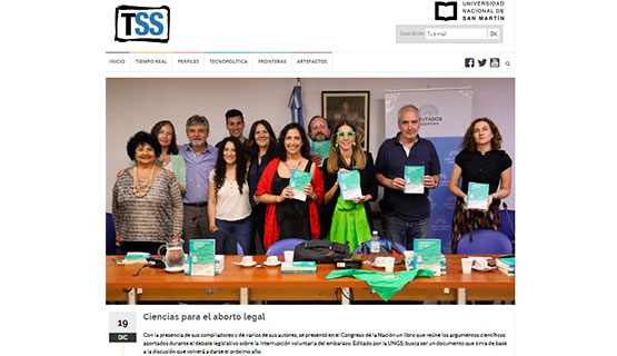 La presentación del libro Legalización del aborto en la Argentina, en Agencia TSS