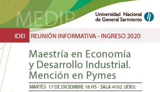 Charla informativa de la Maestría en Economía y Desarrollo Industrial