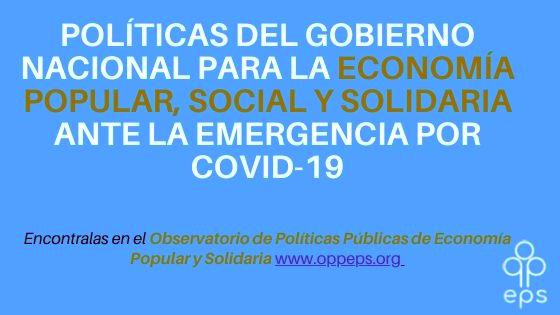Políticas nacionales de EPSS ante la emergencia por COVID-19