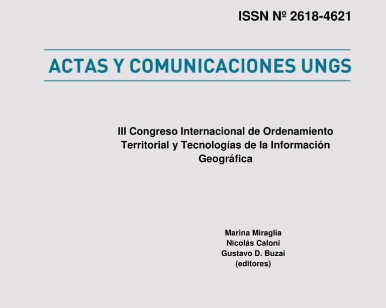 Actas y comunicaciones UNGS