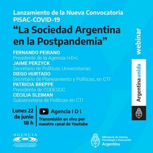 Nueva convocatoria PISAC-COVID-19: La sociedad argentina en la postpandemia