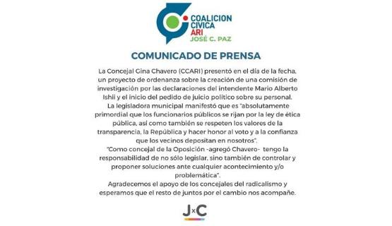 La oposición pide la suspensión preventiva del intendente de José C. Paz