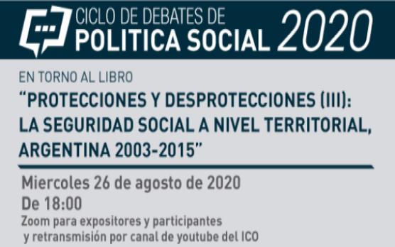 Conversatorio: La pandemia y las desprotecciones, ¿qué puede hacer la seguridad social para protegernos?