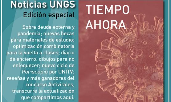 Tiempo Ahora: nuevas notas en Noticias UNGS