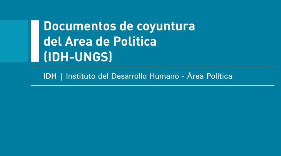 Documentos de coyuntura del Área de Política