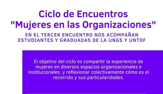 Tercer encuentro del ciclo Mujeres en las organizaciones